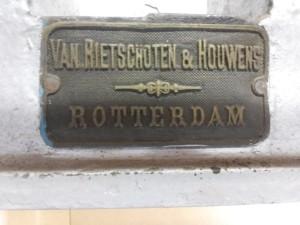 Oude draaibank merk